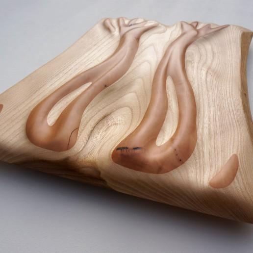 Holzkunstwerk - Das Licht der Bäume
