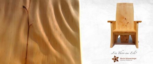 Intuitive Holzkunst - Ein Thron aus Erle