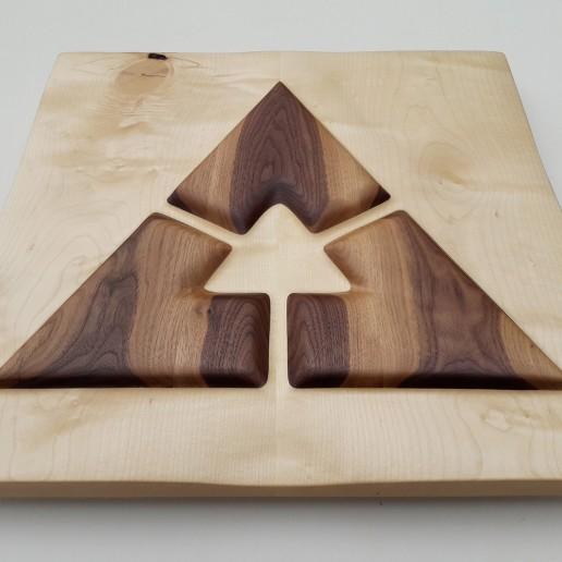 Intuitives Holzkunstwerk - Focus