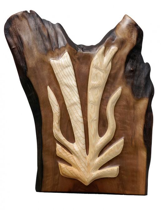 Holzkunstwerk Zwillingsflamme